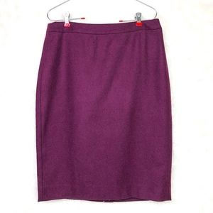 NWT J. Crew Tall pencil skirt in double-serge wool